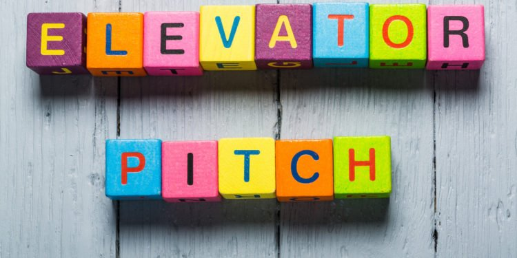 "blocks spelling out the phrase ""elevator pitch"""